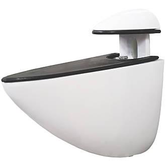 Image of Select Adjustable Shelf Bracket White 72 x 65mm