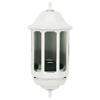 Image of ASD 60W White Slave Half Lantern Wall Light