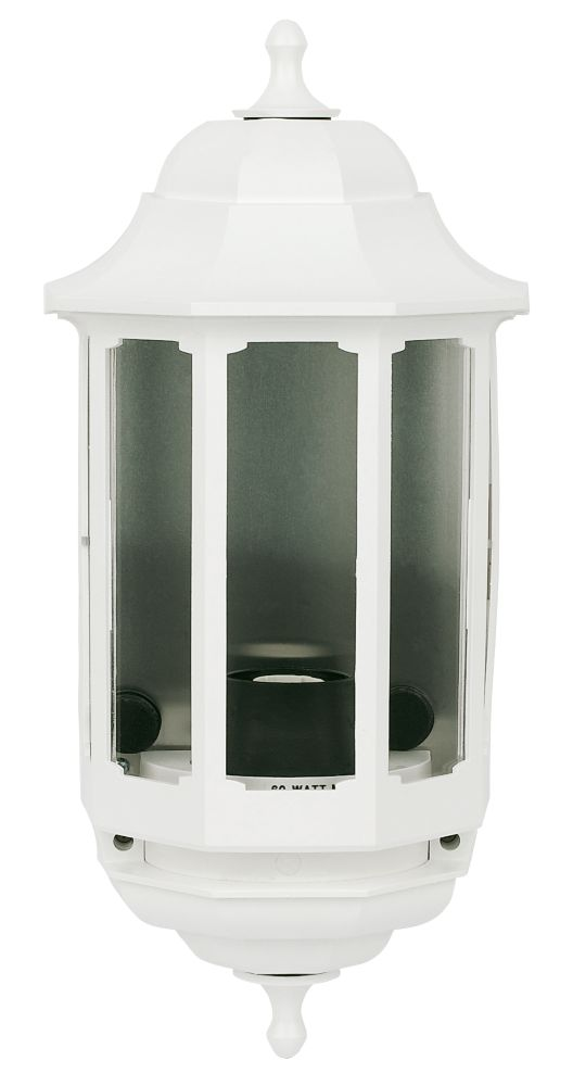 Image of ASD 60W White Slave Half Lantern Wall Light