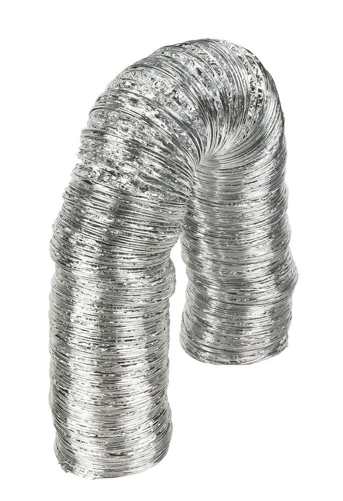 Image of Manrose Aluminium Laminated Flexible Ducting Hose Silver 10m x 102mm