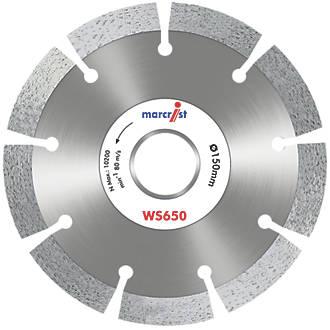 Image of Marcrist WS650 Masonry Diamond Wall Chasing Blades 150 x 22.23mm 2 Pack