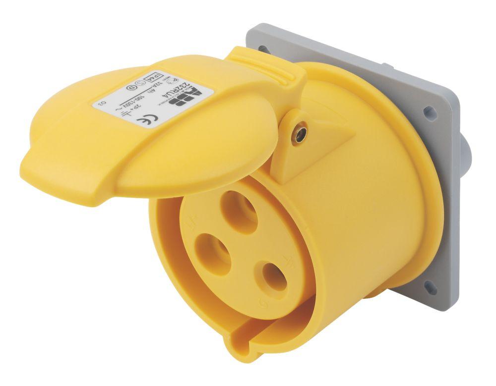 Image of ABB Panel Socket 32A 2P+E 110V 4H IP44