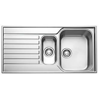 Franke Ascona Inset Sink 18 / 10 Stainless Steel 1.5 Bowl 1000 x ...
