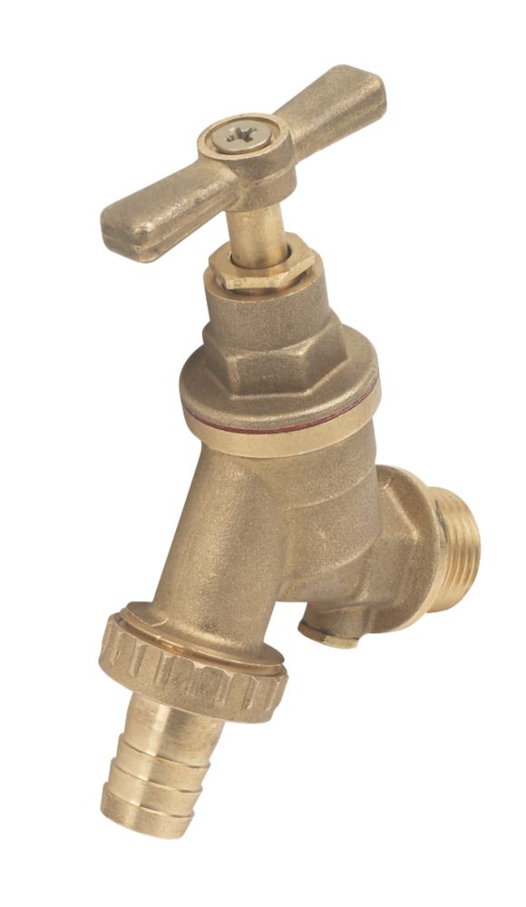 "Image of Outside Tap with Double Check Valve 15mm x ""mm"
