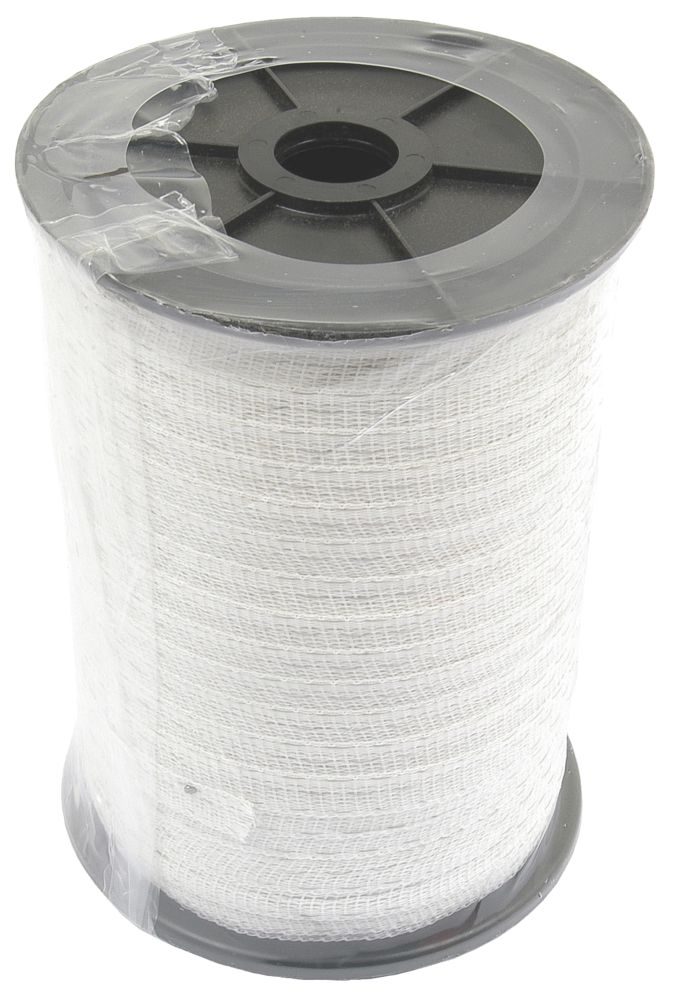 Image of Stockshop Electric Fence Polytape White 12mm x 200m