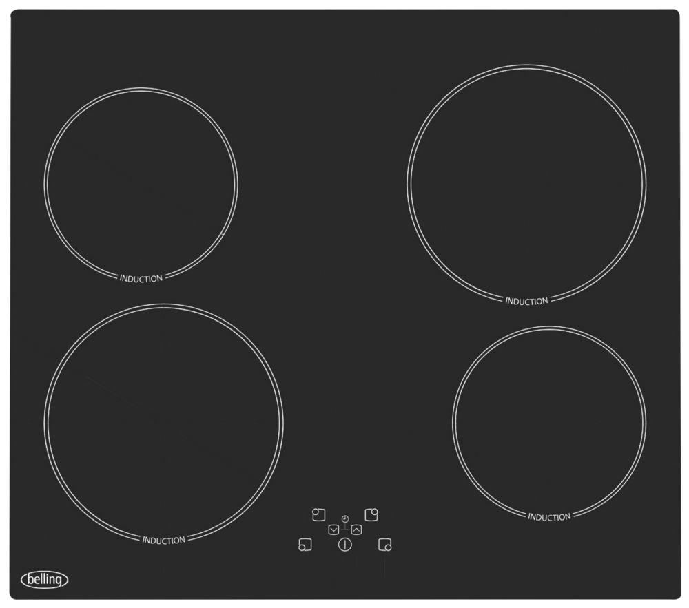 Image of Belling HT613 Electric Induction Hob Black 520 x 590mm