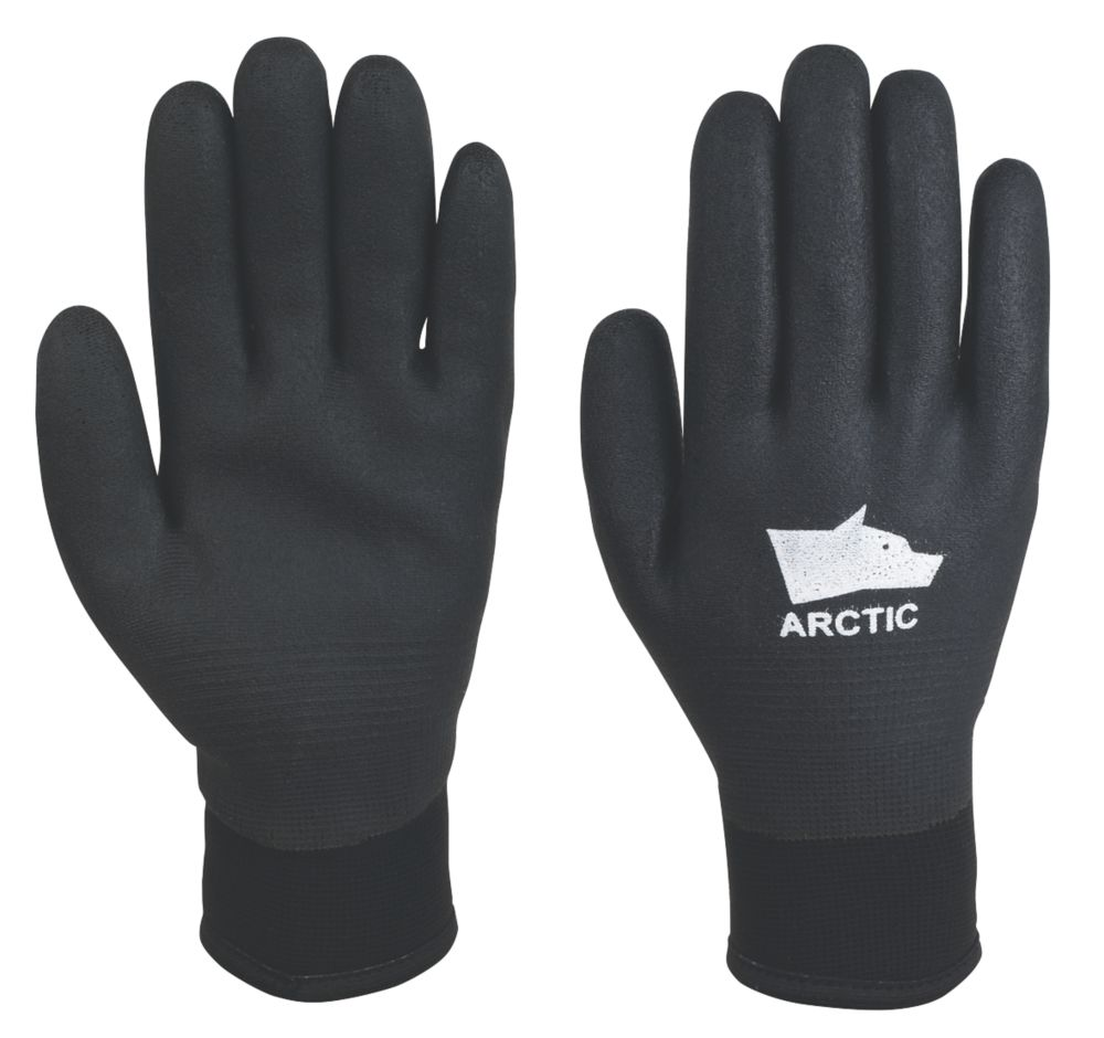 Image of Hyena Arctic Fully-Coated Winter Gloves Black Large