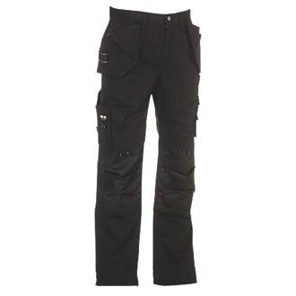 "Image of Herock Dagan Work Trousers Black 30"" W 30"" L"