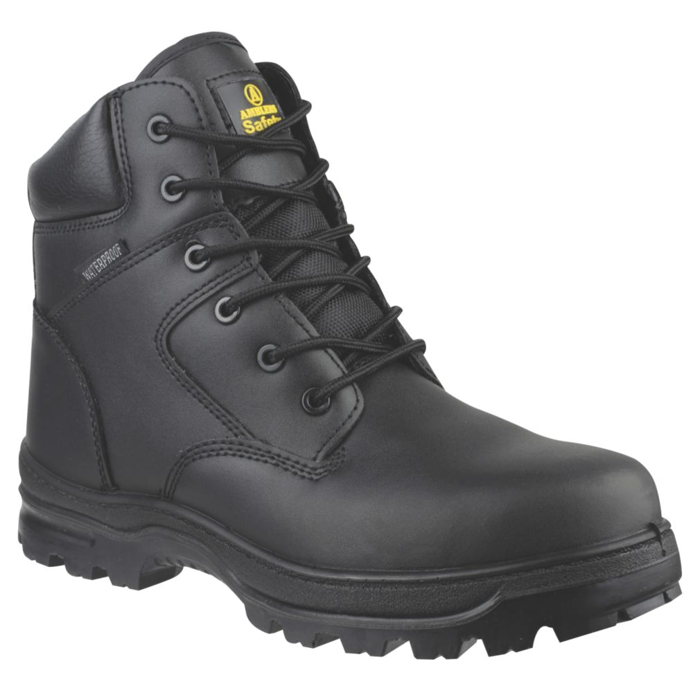Image of Amblers FS006C Metal Free Safety Boots Black Size 10