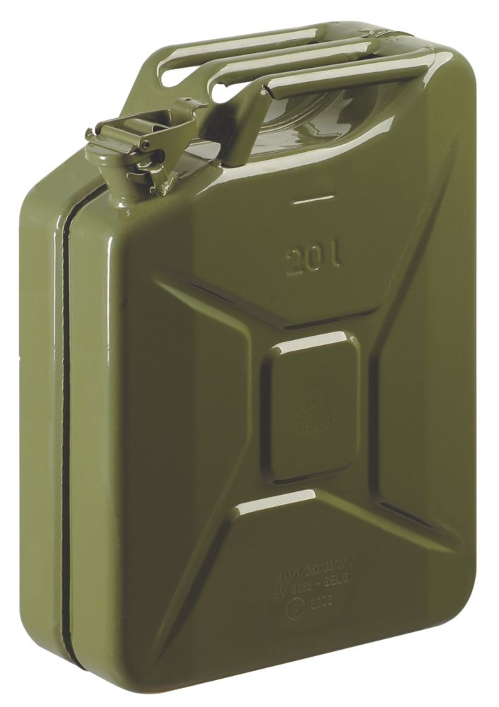 Image of Steel Jerry Can Olive Green 20Ltr