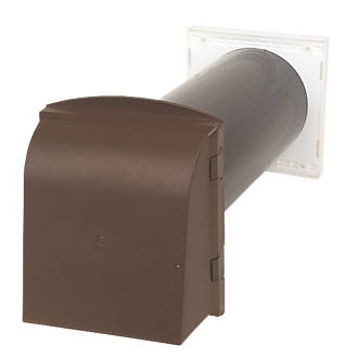 Image of Manthorpe Core Vent Brown 160.5mm x 350mm