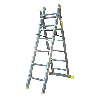 Image of Lyte 2-Section 4-Way Aluminium Combination Ladder 2.67m