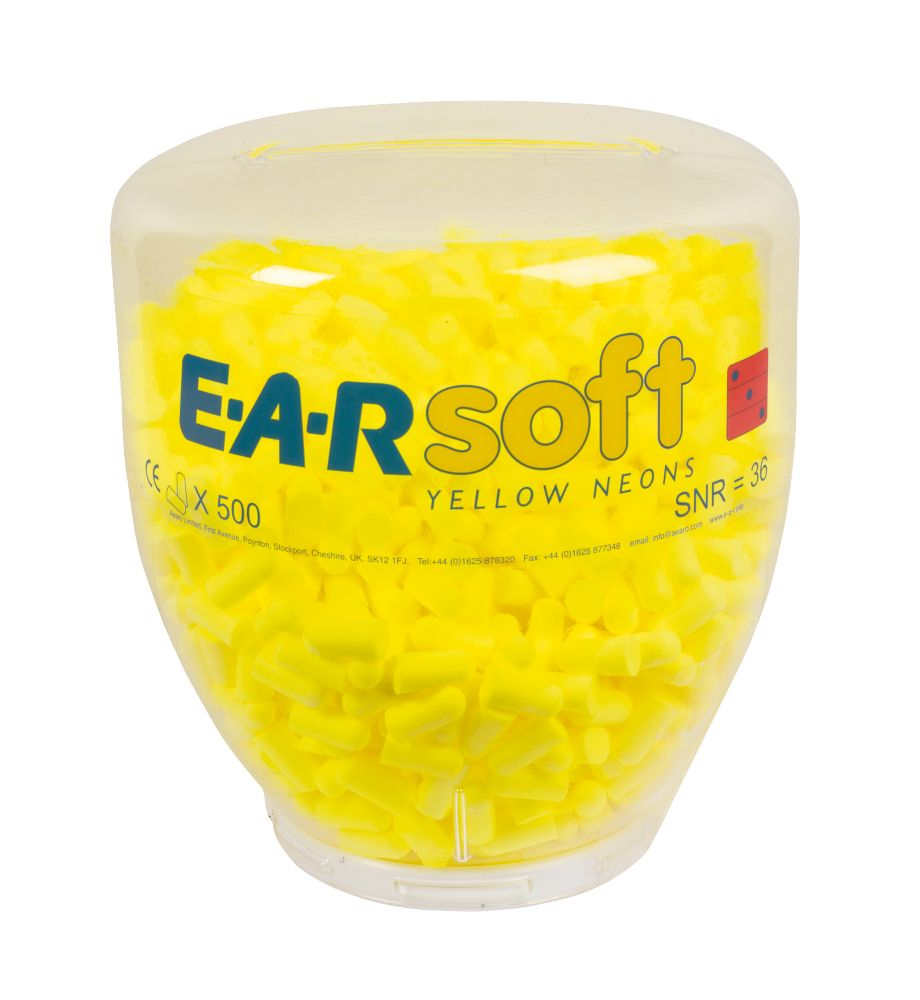 Image of 3M EAR Soft Neons 36dB Ear Plug Refill Bottle 500 Pairs