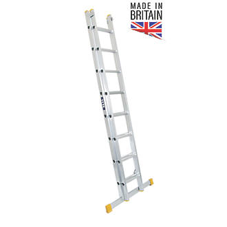 Image of Lyte 2-Section Aluminium Extension Ladders 3.86m