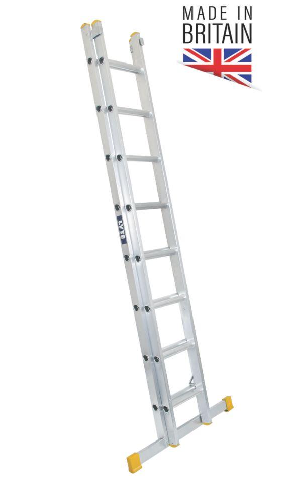 Image of Lyte 2-Section Aluminium Ladder 3.86m