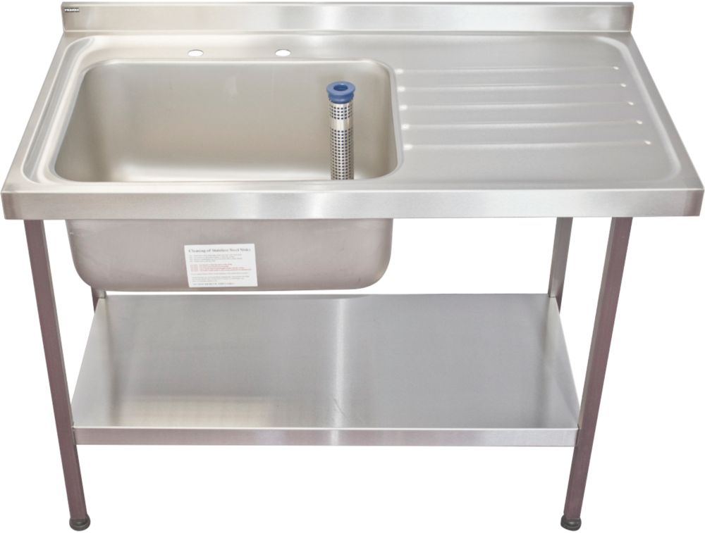 Image of Franke Midi Catering Sink Stainless Steel 1-Bowl 1200 x 650mm