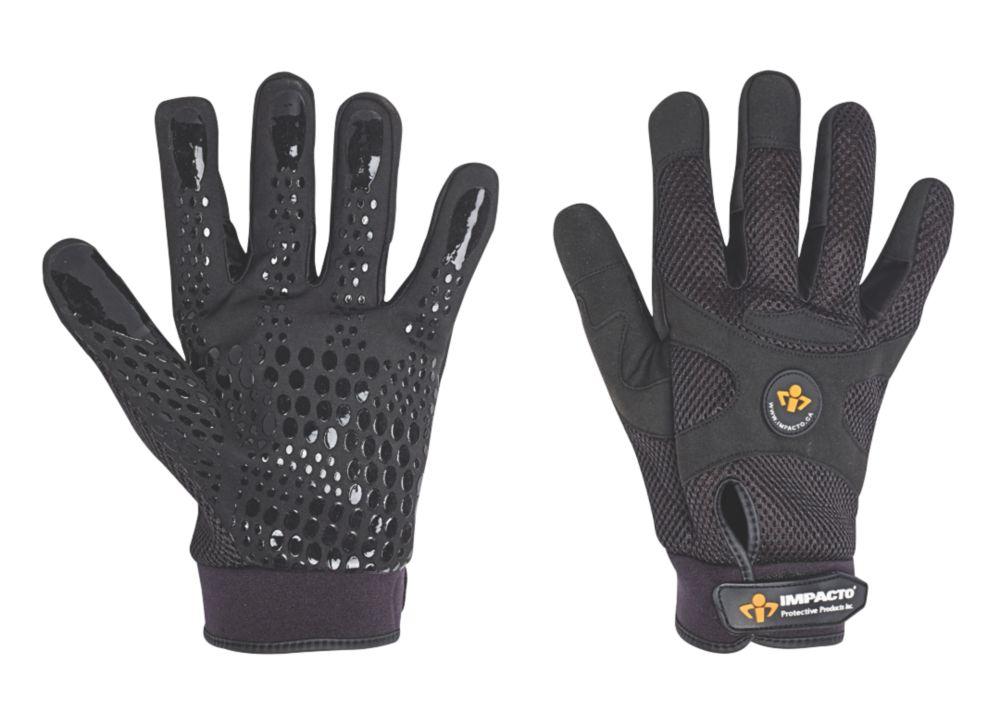 Image of Impacto BG408 Anti-Vibration Mechanics Air Glove Black X Large