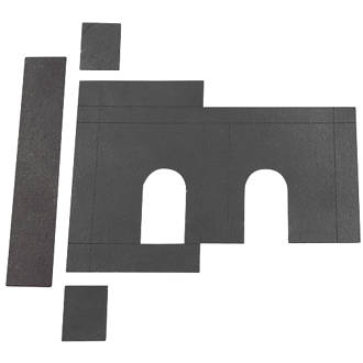 Image of Flexifire Universal Intumescent Deadlock Kit Black 76 x 0.8 x 80mm