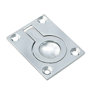 Image of Carlisle Brass Flush Ring Pull 63mm Polished Chrome