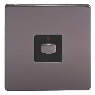 Image of Energenie 1-Gang 2-Way LED Dimmer Switch Black Nickel