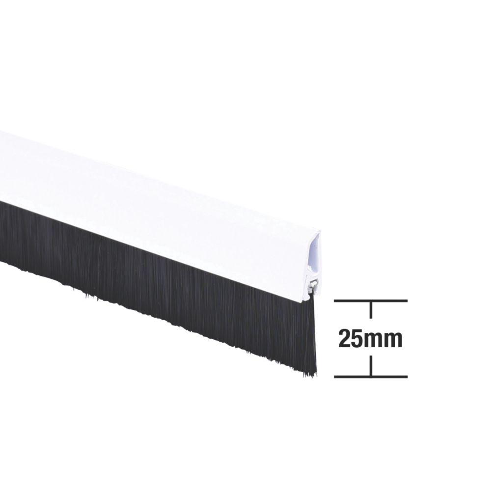 Image of Stormguard Bottom Door Brush Draught Excluder White 1m