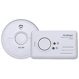 Image of FireAngel 9B-SB1-TP-R Smoke and Carbon Monoxide Alarm Twin Pack 2 Piece Set