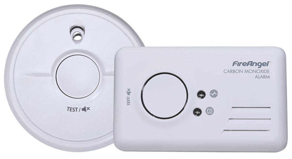 Image of FireAngel 9B-SB1-TP-R Smoke and Carbon Monoxide Alarm Twin Pack 2 Piece Set