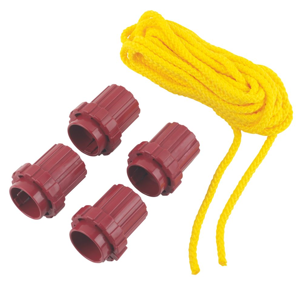 Image of What Knot Replacement Tools & 7m Yellow Rope 70mm x 60mm 5 Piece Set