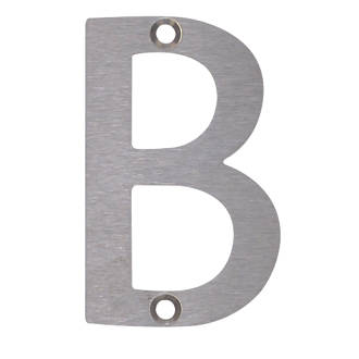 Image of Fab & Fix Door Letter B Satin Stainless Steel 78mm