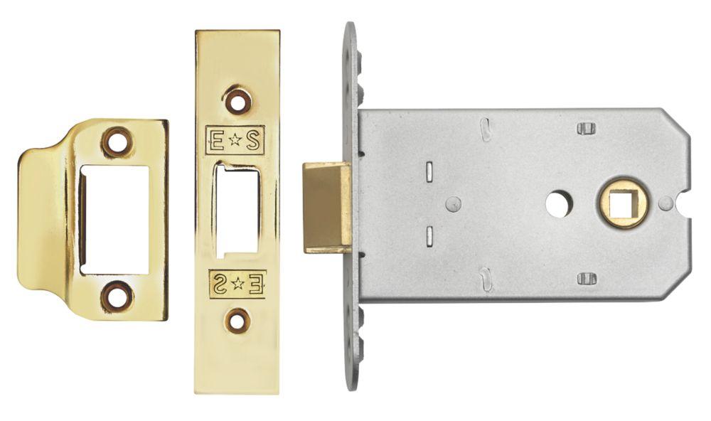 Image of Eurospec Flat Mortice Latch Electro Brass 102mm