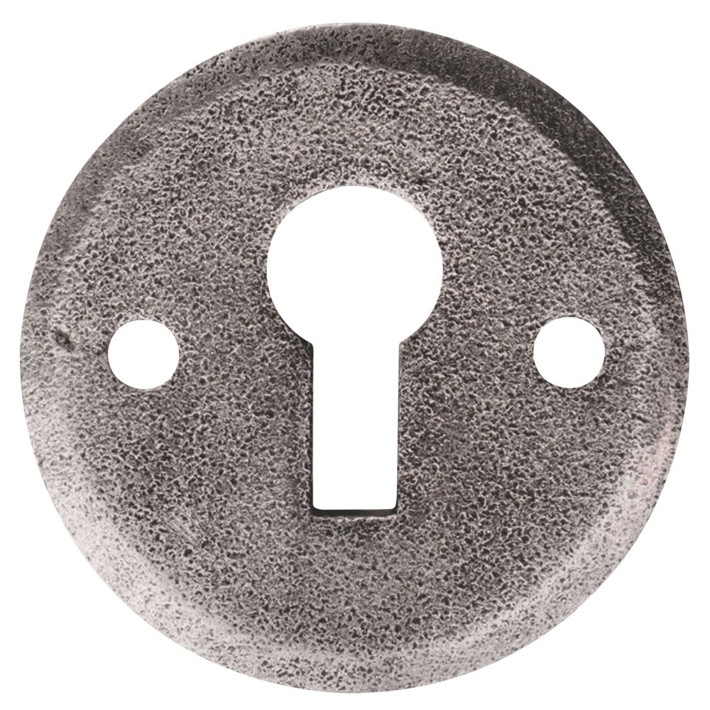 Image of Carlisle Brass Hand-Forged Escutcheon Pewter 40mm