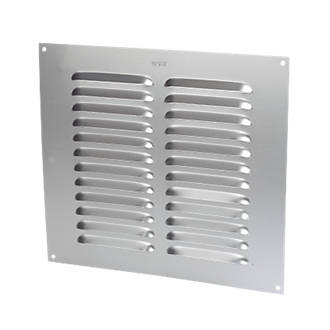 Image of Map Vent Fixed Louvre Vent Silver 229 x 229mm