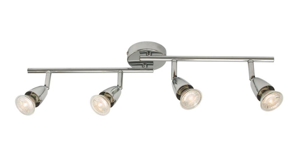 Image of Saxby Amalfi 4-Light Spotlight Bar Chrome