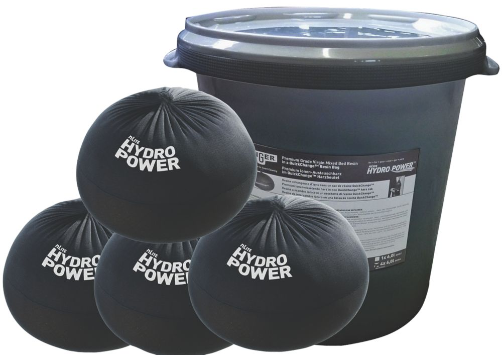 Image of Unger HydroPower Quick-Change Resin Bags 6Ltr 4 Pack
