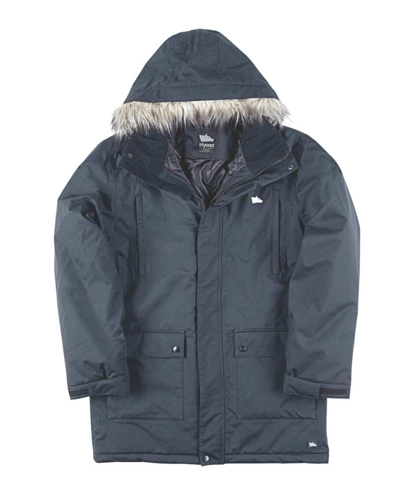 "Image of Hyena Alps Parka Jacket Black Medium 49"" Chest"