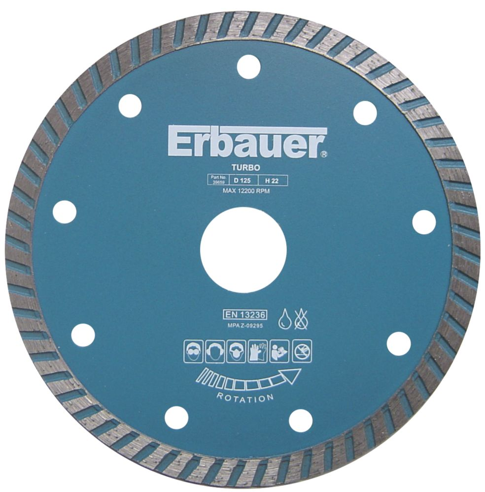 Image of Erbauer Turbo Jet Blade 125 x 1.9 x 22.23mm