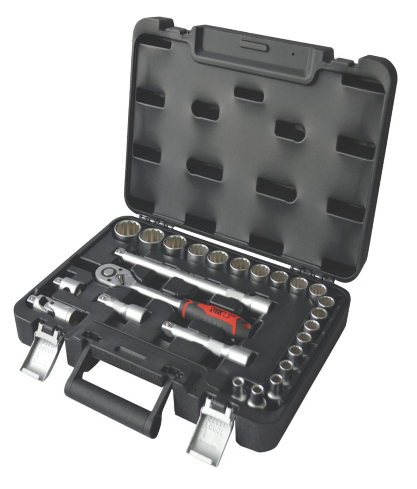 "Image of Forge Steel "" Socket Set 25 Pieces"