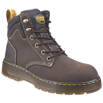 Image of Dr Martens Brace Safety Boots Brown Size 10