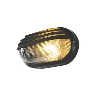 Image of Zinc Oval Bulkhead Black 240V