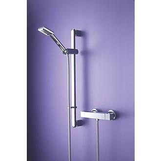 Image of Bristan Quadrato Exposed Chrome Thermostatic Mixer Shower