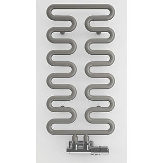 Image of Terma Aire Designer Towel Rail 621 x 300mm Grey / Silver