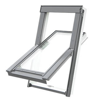 Image of Tyrem C4A Manual Centre-Pivot White uPVC uPVC Roof Window Clear 550 x 980mm