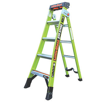 Image of Little Giant 2-Section 3-Way Fibreglass & Aluminium 3-in-1 Extension Ladder 2.6m