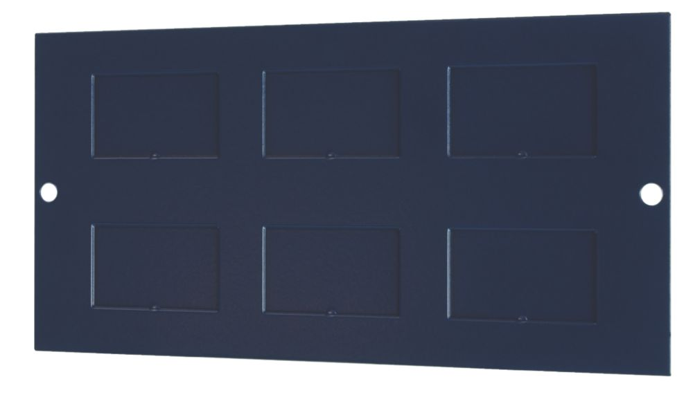 Image of 6 Data Outlet Plate 173 x 87mm