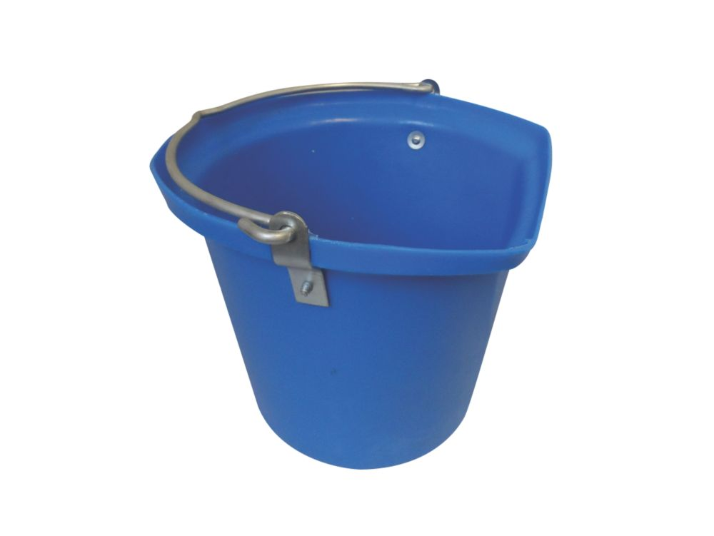 Image of Stubbs Flat-Sided Hanging Feed Bucket Blue 14Ltr