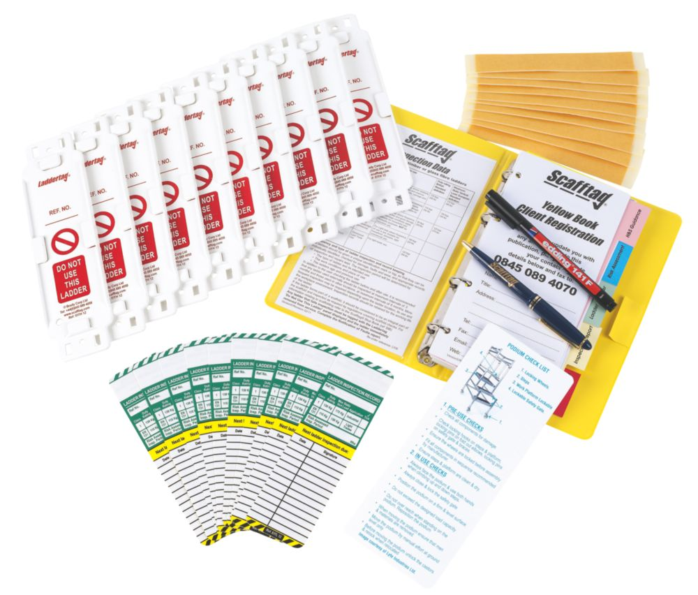 Image of Scafftag Laddertag Complete Tagging Kit