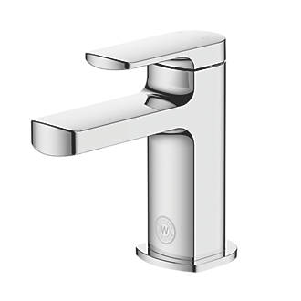 Image of Watersmith Heritage Clyde Basin Mini Mono Mixer Tap with Clicker Waste