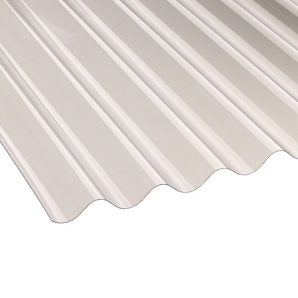 """Image of Vistalux Corolux ASB 3""""Corrugated PVC Sheet Clear 1830 x 762mm"""