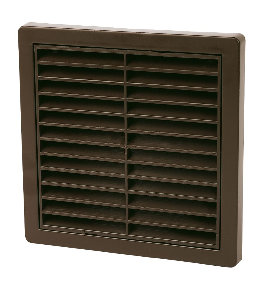 Image of Manrose Fixed Louvre Vent Brown 160 x 160mm