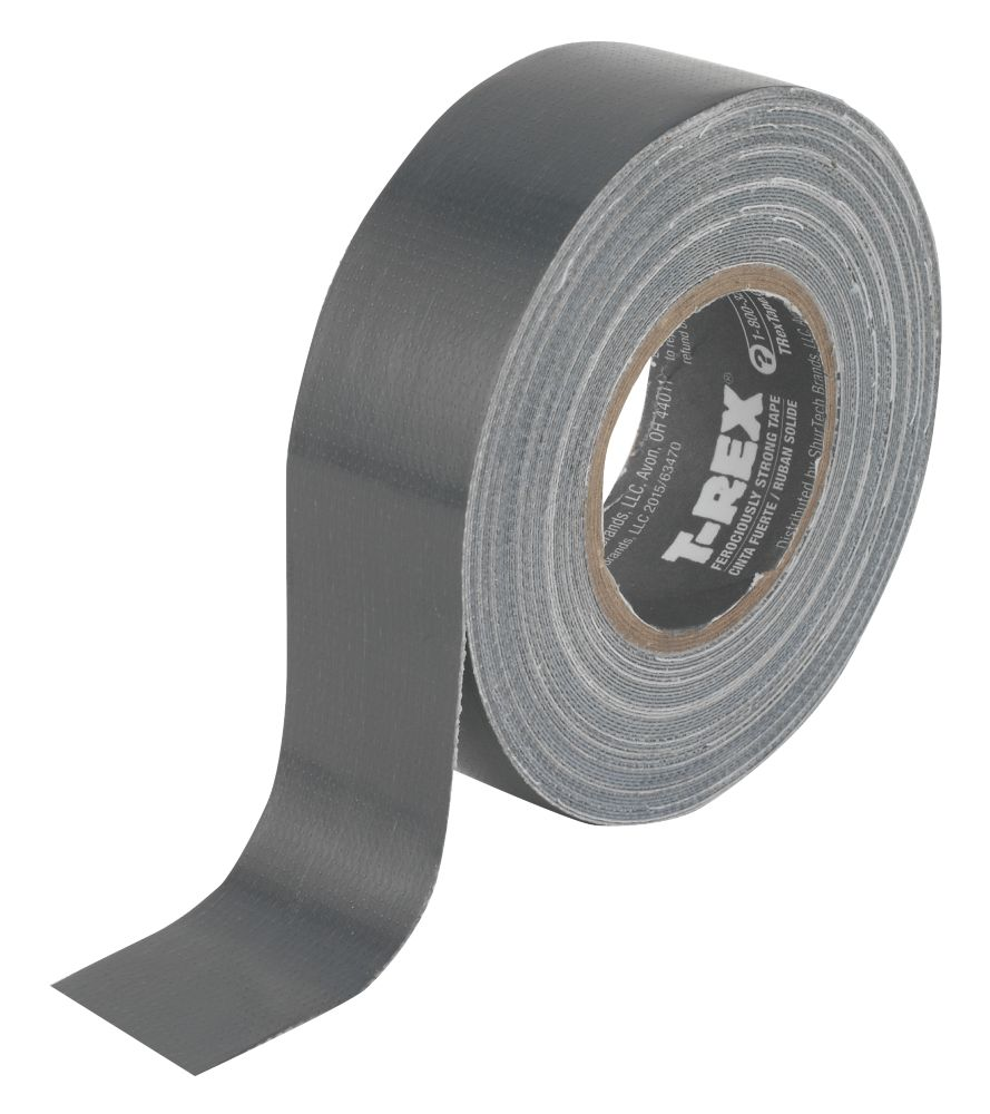 Image of T-Rex Ferociously Strong Cloth Tape Graphite Grey 25mm x 9m